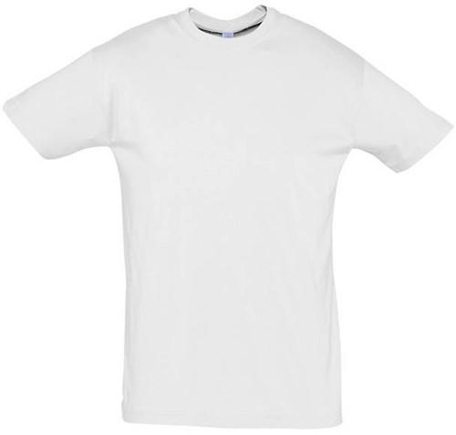 SALE! Sol's Regent 11380 T-shirt - Wit - Maat L