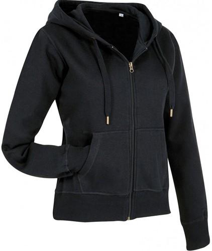 SALE! Stedman STE5710 Active Dames Sweater Met Rits En Capuchon - Zwart - Maat M