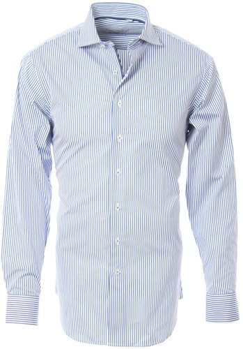 SALE! Arrivee 1538 Overhemd Shirt LM - Licht blauw [Streepjes] - Maat 38