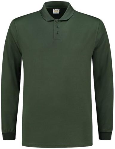 SALE! Tricorp 202005 Poloshirt UV Block Cooldry Lange Mouw - Flessengroen - Maat L