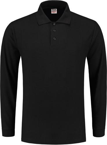 OUTLET! Tricorp PPL180 Poloshirt Lange Mouw - Zwart - Maat L
