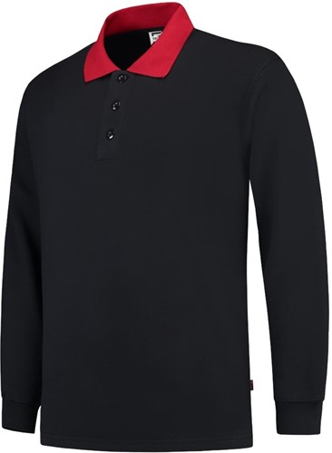 OUTLET! Tricorp PSB280 Polosweater Boord - Navy/red - XL